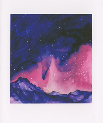 Aurora watercolor note cards