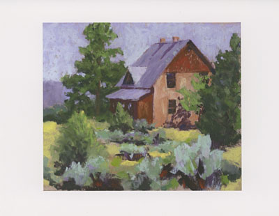 Donner Ranch watercolor note cards