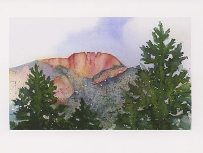 Horsetooth Rock watercolor note cards