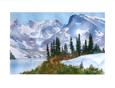 Indian Peaks watercolor note cards