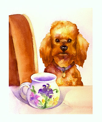 Tea Time watercolor note cards