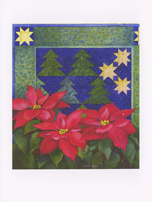 Tuolomne Poinsettia watercolor note cards